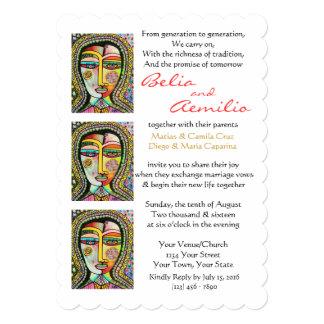 Virgen de la invitación del boda de los MILAGROS