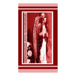Virgen de las etiquetas del regalo del navidad de tarjetas de visita