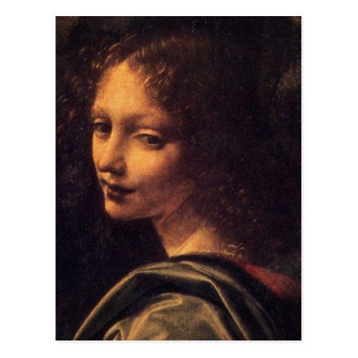 Virgen de las rocas - ángel postales