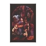 Virgen de las rocas de Leonardo da Vinci Impresión En Lona Estirada