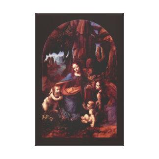 Virgen de las rocas de Leonardo da Vinci Lona Estirada Galerías