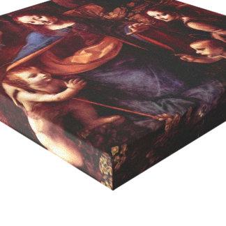 Virgen de las rocas de Leonardo da Vinci Impresión En Lienzo Estirada