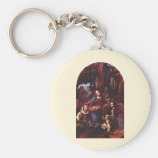 Virgen de las rocas de Leonardo da Vinci Llavero Redondo Tipo Pin