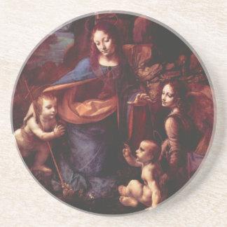Virgen de las rocas de Leonardo da Vinci Posavasos Manualidades