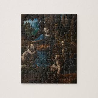 Virgen de las rocas de Leonardo da Vinci Puzzle Con Fotos