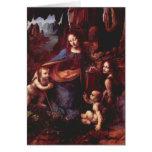 Virgen de las rocas de Leonardo da Vinci Tarjetón