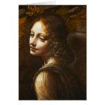Virgen de Leonardo da Vinci del ángel de las rocas Felicitaciones