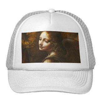 Virgen de Leonardo da Vinci del gorra del ángel de