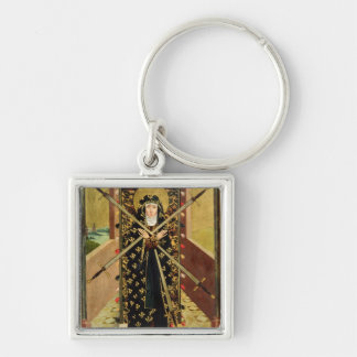 Virgen de siete dolores del altar de la bóveda, 14 llavero cuadrado plateado