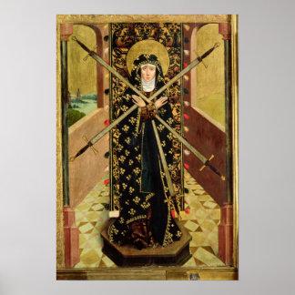 Virgen de siete dolores del altar de la bóveda, 14 póster