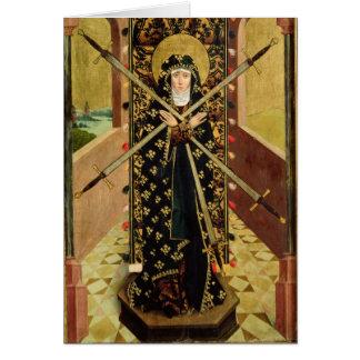 Virgen de siete dolores del altar de la bóveda, 14 tarjeta de felicitación