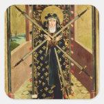 Virgen de siete dolores del altar de la bóveda, calcomanía cuadradase