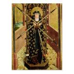 Virgen de siete dolores del altar de la bóveda, postal