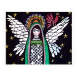 Virgen del ángel del arte de Guadalupe por el brez Postal