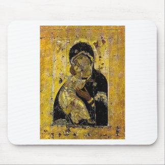 Virgen del icono ucraniano Madonna de Kyiv Alfombrilla De Ratones