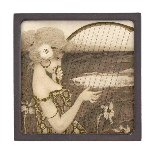 Virgen griega del vintage con la caja de regalo de caja de recuerdo de calidad