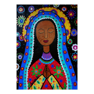 Virgen Guadalupe by Pristine Cartera-Turkus Poster