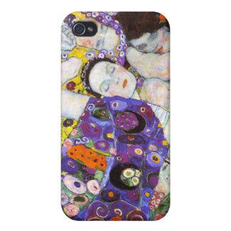 Virgen, Gustavo Klimt iPhone 4 Funda