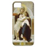 Virgen, Jesús y St John de Guillermo Bouguereau-Th iPhone 5 Fundas