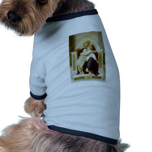 Virgen, Jesús y St John de Guillermo Bouguereau-Th Camisas De Mascota