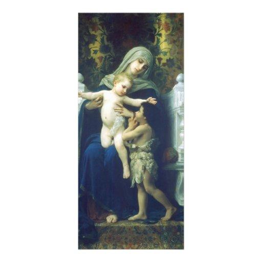 Virgen, Jesús y St John de Guillermo Bouguereau-Th Diseño De Tarjeta Publicitaria