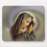 Virgen María 2 Alfombrillas De Ratones