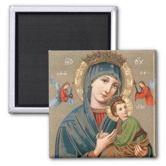 Virgen María bendecido con el imán del icono de Je