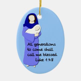 Virgen María bendecido Ornamento De Reyes Magos