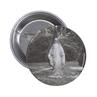 Virgen María bendecido en piedra - imagen de Holga Pin Redondo De 2 Pulgadas
