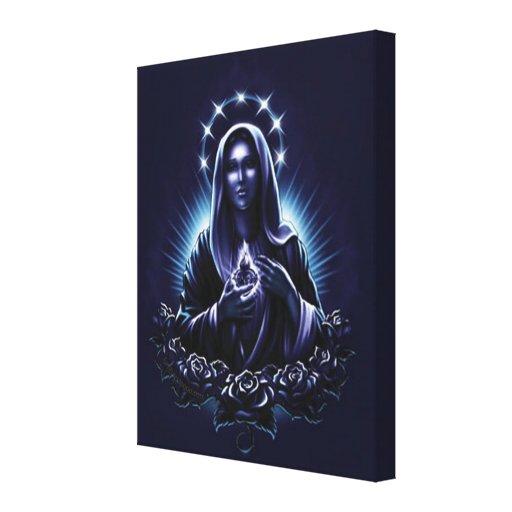 Virgen María bendecido Lona Envuelta Para Galerías