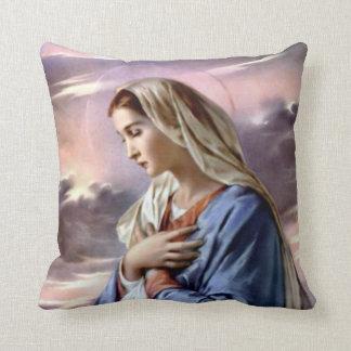 Virgen María bendecido - madre de dios Cojín Decorativo