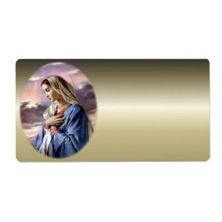 Virgen María bendecido - madre de dios Etiqueta De Envío