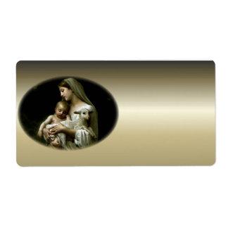 Virgen María bendecido - madre de dios Etiquetas De Envío