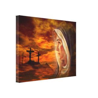 Virgen María bendecido - madre de dios Impresión En Lienzo