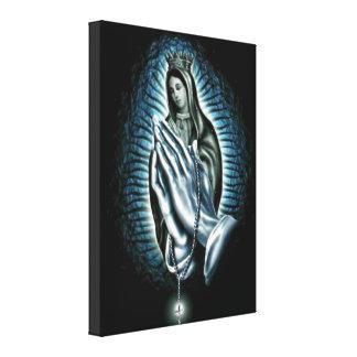 Virgen María bendecido - madre de dios Impresión En Lona