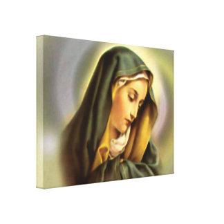 Virgen María bendecido - madre de dios Impresiones En Lona