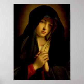 Virgen María bendecido - madre de dios Impresiones