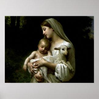 Virgen María bendecido - madre de dios Póster