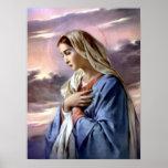 Virgen María bendecido - madre de dios Posters