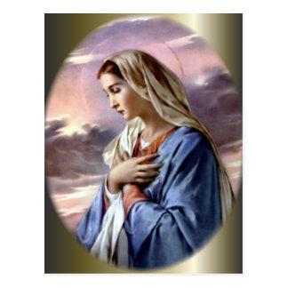 Virgen María bendecido - madre de dios Postal