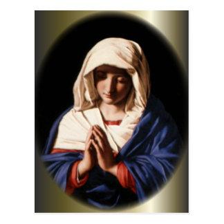 Virgen María bendecido - madre de dios Tarjetas Postales