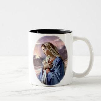 Virgen María bendecido - madre de dios Tazas De Café