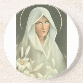 Virgen María bendecido Posavaso Para Bebida