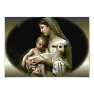 Virgen María bendecido que conforta a Jesús Invitación