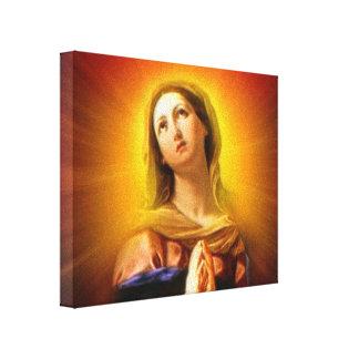 Virgen María bendecido - radiante y brillante Impresiones En Lienzo Estiradas