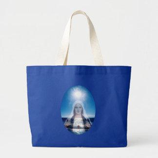 Virgen María bendecido sobre el océano Bolsa Tela Grande
