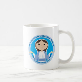 Virgen María bendecido Taza De Café