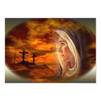 Virgen María bendecido y las tres cruces Comunicados