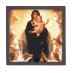 Virgen María Cajas De Recuerdo De Calidad