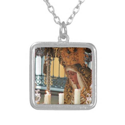 Virgen María Colgante Cuadrado